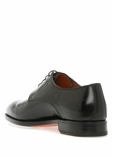 Bontoni %100 Deri Bağcıklı Klasik Ayakkabı Siyah